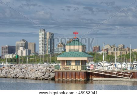 Boat House On Lake Michigan