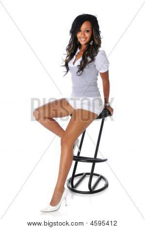 junge Frau posieren