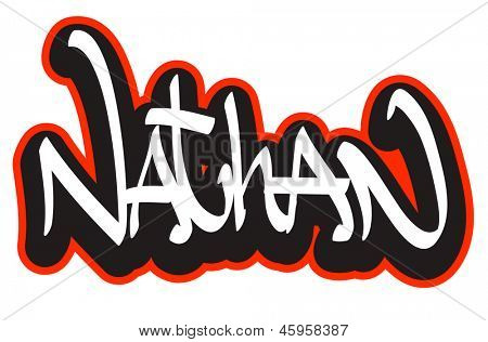 Isaiah In Bubble Letters for Pinterest