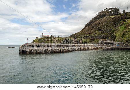 Pier promenade of Cudillero