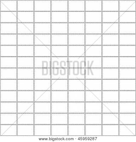 Postage Stamp Background Vector White