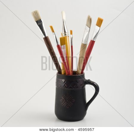 Paintbrush In Vase