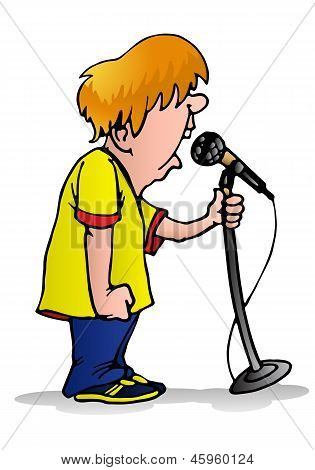 Boy On The Microphone