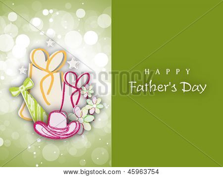 Greeting card or gift card for Happy Fathers Day celebration.