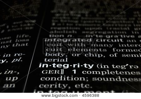Integrity Defined On Black