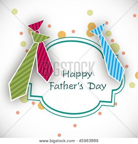 Happy Fathers Day background with colorful neckties.