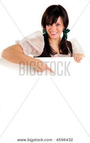 Oktoberfest Girl And Sign