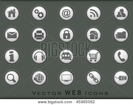 3D web 2.0 mail icons set for websites, web applications. email applications or server Icons.