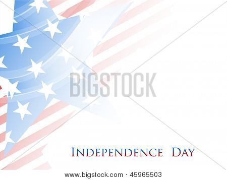 4th of July, American Independence Day grungy background with star in national flag colors.