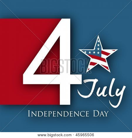 4th of July, American Independence Day background with star.