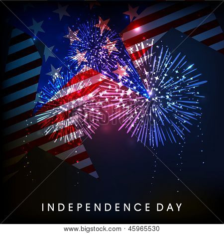 4th of July, American Independence Day celebration background with fire crackers.