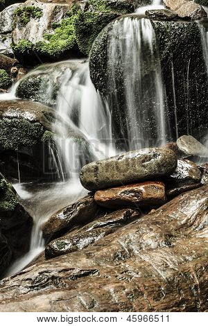 Water Flow Over Rocks