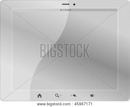 White Tablet Pc On White Background