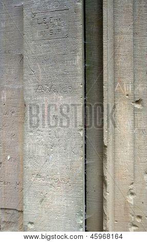 Tagged Stone Wall