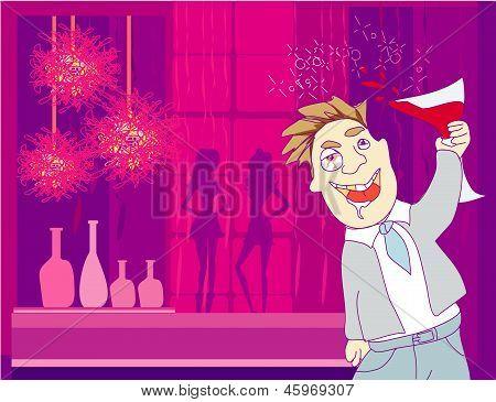 Drunk Man In Disco