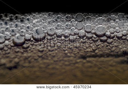 Carbonated drink bubbles