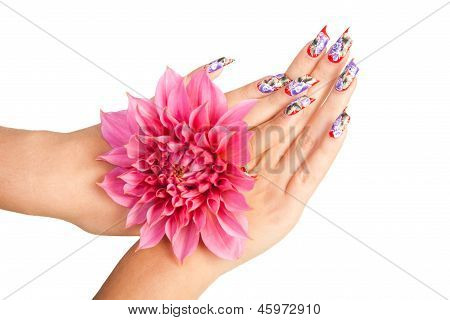 Nails And Flower