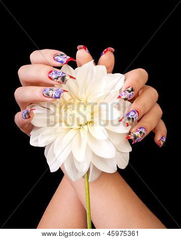 Fingernails And Flower