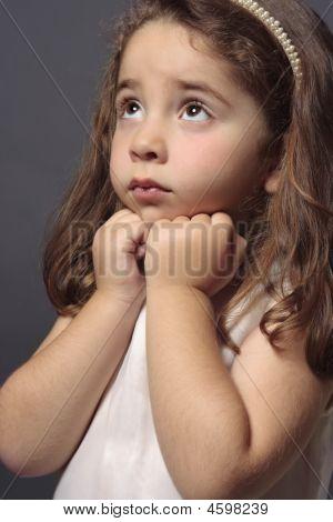 Innocent Girl Looking Up