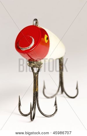 Red & White Fishing Lure