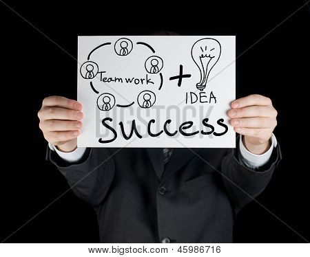 business man with success concept