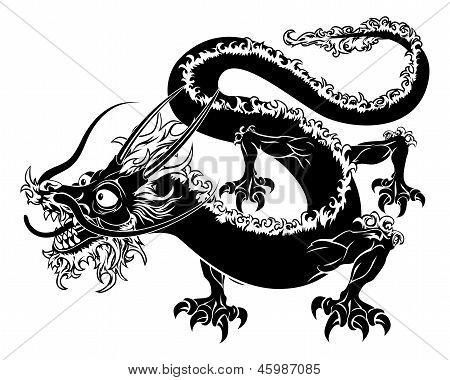 Gestileerde Dragon illustratie