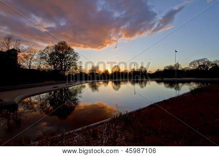 Hampstead Heath by sunset