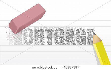 Projeto de ilustração do conceito de hipoteca de apagar