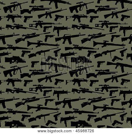 Fundo sem emenda do vector de arma