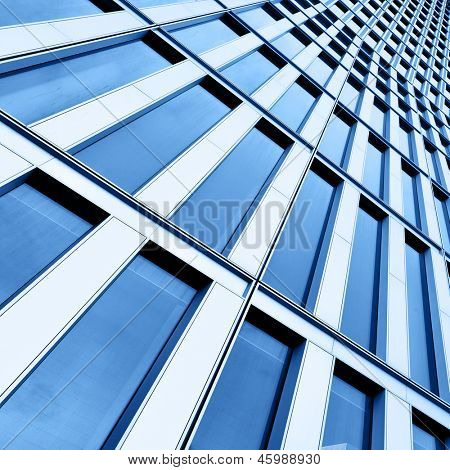 Wall of office building close-up