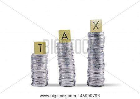 Tax Collection Coins - Isolated