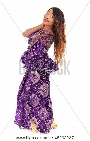 Young Beautiful African Fashion Model