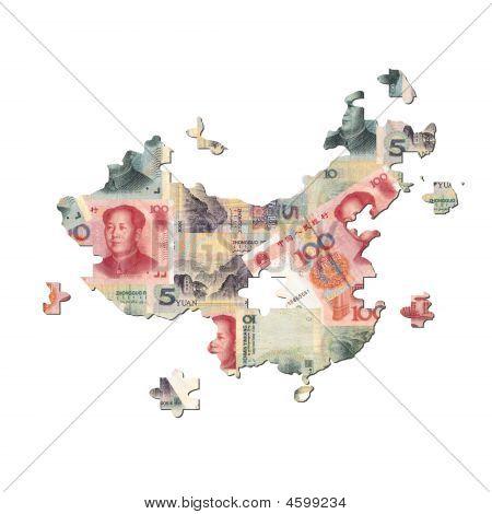 Chinese Yuan Map Jigsaw