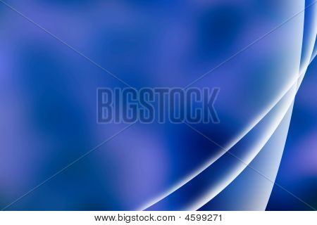 Blue Abstract Wave Composition