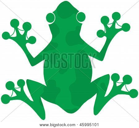 Green Spotted Frog Silhouette Logo