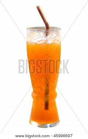 Ice Tea Lemon On White