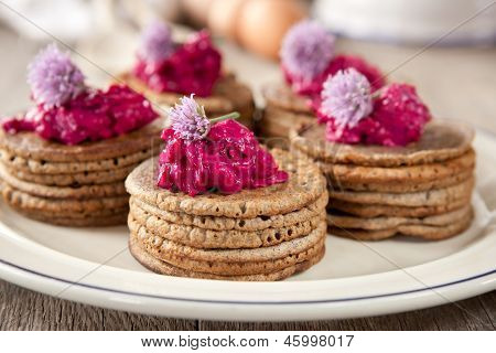 Mini Buckwheat Pancakes