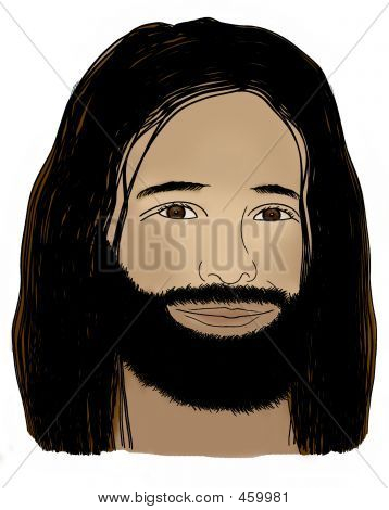 Jesus - Colored Clip Art