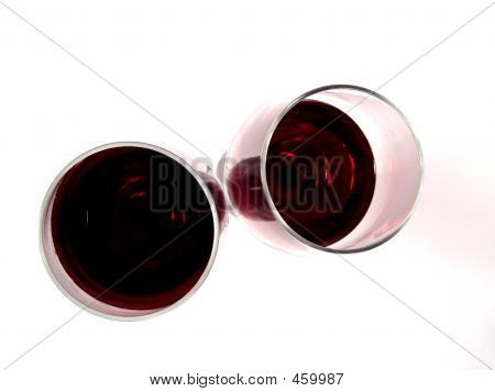 Two Glasses Red Wine