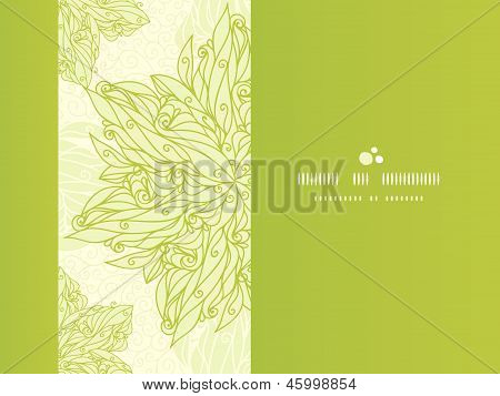 Abstract floral swirls horizontal seamless pattern background