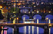 stock photo of bohemia  - Prague city at night - JPG