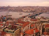 foto of constantinople  - View of the Golden Horn and the ancient city of Istanbul - JPG