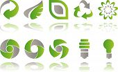 pic of waste reduction  - Vector Set of environmental awareness logos isolated on white - JPG