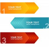 Vector speech templates for text orange, blue