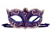stock photo of female mask  - Venetian carnival mask isolated on white background cutout - JPG