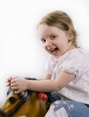 Girl On Toy Horse poster