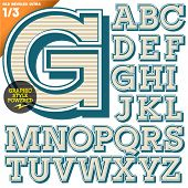 foto of alphabet  - Vector illustration of an old fashioned alphabet - JPG