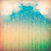 stock photo of rain cloud  - Colorful rain - JPG