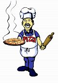 Graphic Of Pizza Cook poster