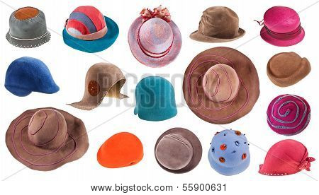 Collection Of Felt Ladies Hats